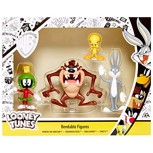 NJ Croce Looney Tunes 4pc Bendable Boxed Set - Marvin, Bugs, Taz and Tweety