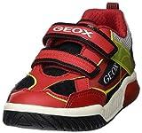 Geox J INEK Boy A, Zapatillas Niños, Rojo (Red/Black C0020), 25 EU