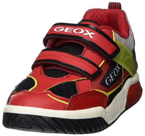 Geox Jungen J INEK Boy A Sneaker, Rot (Red/Black C0020), 34 EU