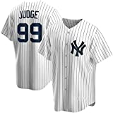 BBJOZ Camiseta New York Yankees 99 Camiseta de la Liga Americana para Hombre Camiseta de Manga Corta con Cuello en V Camisetas Transpirables de Secado rápido-Blanco_XL / 54