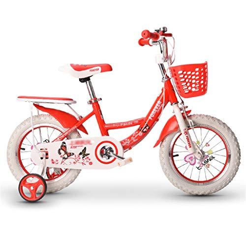 LZY Bicicleta de niña Flower Princess BMX, Bicicleta de Mariposa para niños...