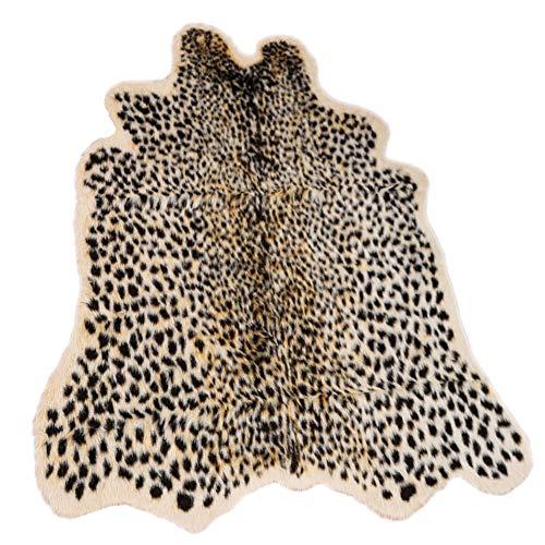 Leopard Print Rug , Faux Cowhide Cheetah Skin Rug Animal Printed Area Rug Carpet for Home Office, Livingroom, Bedroom (39.4 x 37.4 Inch )