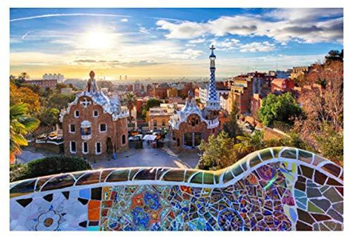 MTAMMD Puzzles Rompecabezas Barcelona Ciudad 500 1000 Piezas Juego De Rompecabezas De Madera para Adultos Rompecabezas Juguetes Niños Niños Juguetes Educativos-500Pieces