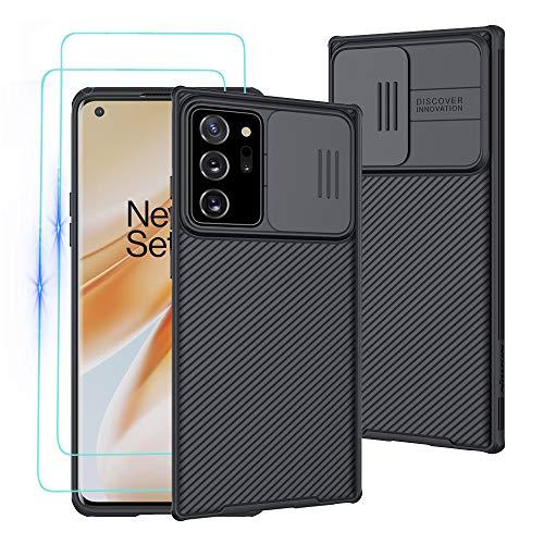 Custodia per Samsung Galaxy Note 20 Ultra, Case CamShield [Protezione Fotocamera] Bumper Protettiva Ultra Sottile Leggero Design Scorrevole Anti Graffio Antiurto Rigido PC Cover con Vetro Temperato