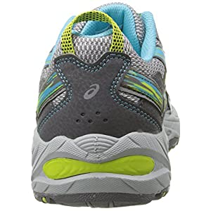 ASICS Women's Gel-Venture 5 Running Shoe, Silver Grey/Turquoise/Lime Punch, 8.5 M US