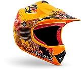 ARMOR Helmets AKC-49 Casco Moto-Cross, DOT certificato, Nero, S (53-54cm)