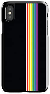Cell World LLC - Rainbow Pride Gay Lesbian Queer Hard Rubber Phone Case for Apple iPhone XR Includes 1 Screen Protector