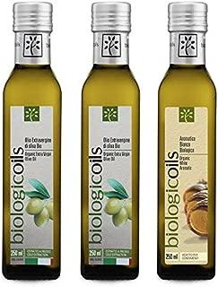 イタリア産有機エキストラヴァージンオリーブオイル+バルサミコ酢 250ml 3本セット (オリーブ250ml 2本+バルサミコ酢白250ml 1本)