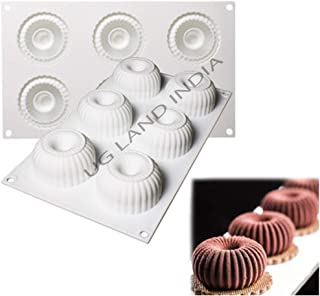 UG LAND INDIA 6 Cavity Donuts Shape Silicone Cake Mold DIY Silicone Form Moulds for Mousse Baking Chocolate Cookie Mold Ca...