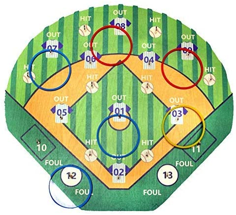 FIREBUBBLES Baseball Ring Toss Game and - Hook Under blast sales Pa Overseas parallel import regular item