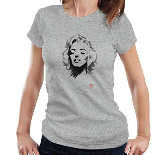 Marilyn Monroe digitale schilderij vrouwen T-Shirt