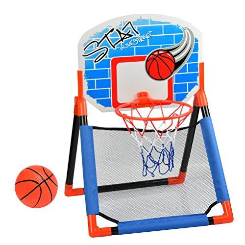Kinder Basketballkorb fürs Zimmer Hängbar und Faltbar Basketballkorb mit Ständer, Indoor Outdoor Mehrzweck-Basketballkorb mit Miniball für 2-15 Jahre Alt