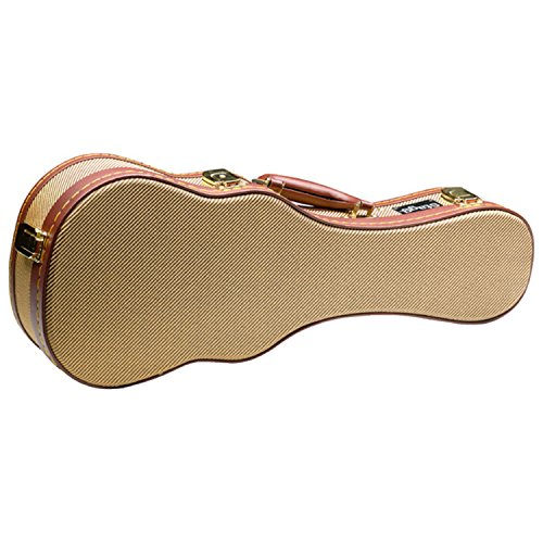 Stagg GCX-UKS Deluxe Hard Case for Soprano Ukulele - Vintage Gold Tweed