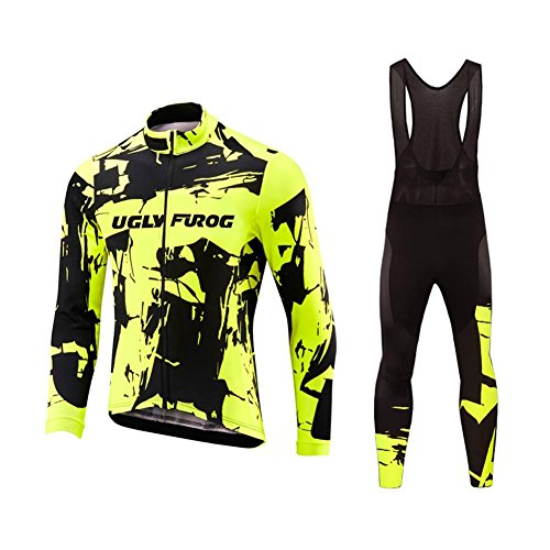 Uglyfrog 2018 Automne-Hiver Homme Thermique Maillot Manches Longues Costumes Vélos VTT Homme Cycle...