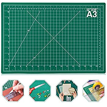 Self Healing Sewing Mat Anezus 12  x 18  Rotary Cutting Mat Double Sided 5-Ply Craft Cutting Board for Sewing Crafts Hobby Fabric Precision Scrapbooking Project