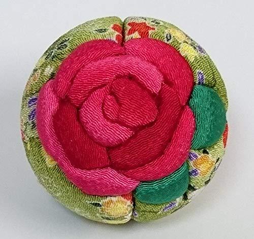 多加楽ちりめん手芸『木目込みの吊るし手まり「薔薇」』