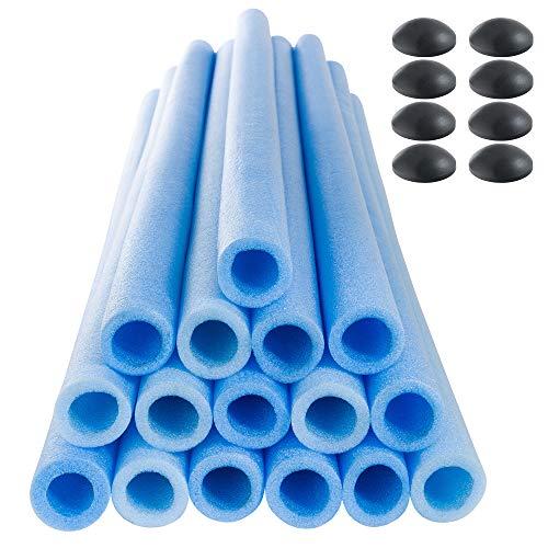 Arebos 16x Trampolin Schaumstoffrohre 84 cm für 8 Stangen inklusive 8 Endkappen