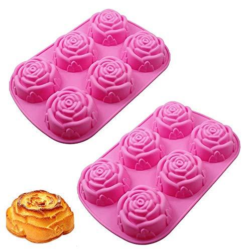 Stampo in Silicone 3D, 2 Pezzi Stampi per Sapone in Silicone per Fiori, Stampo per Sapone Fatto in...