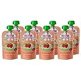 FruchtBar Bio-Früchte-Haferbrei Erdbeere, Banane, Hafer im Quetschbeutel, 8x120g
