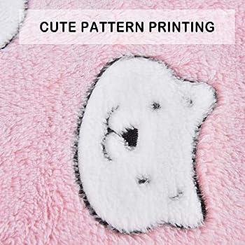 Vejaoo Flanelle Douce et Chaude Couverture Chaude, épaisse Couverture de Chien Tapis de Chat XZ006 (61 * 41 CM, Pink Bear)