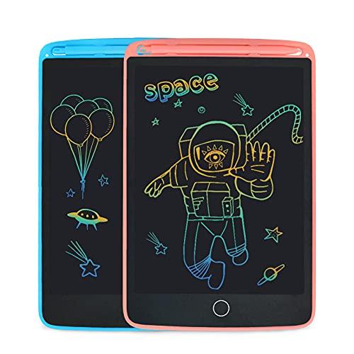 SUNLU Tableta de Escritura LCD, Dibujo y Escritura para niños y Adultos, Papel de Escritura a Mano para Oficina, Escuela, hogar (8.5 Pulgadas Blue+Pink)