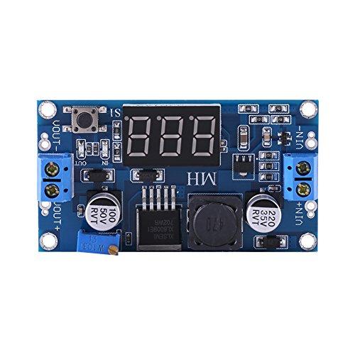 Modulo Riduttore di Tensione DC/DC regolabile di 400 KHz, con Visualizzazione Voltmetro [Classe di efficienza energetica A]