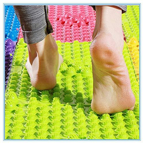 Alfombrilla de masaje de pies de acupuntura Shiatsu para masaje de circulación sanguínea, para aliviar el dolor de pies y relajar los músculos (2 unidades, color aleatorio)