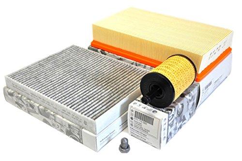 D'origine VW T5 Paquet d'inspection 2.5 TDI tous les modèles Filtre à air Filtre à huile Filtre à pollen Charbon actif