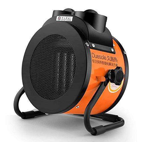 XIANGAI Calefactor Calentadores eléctricos de 2 kW Calentador de Ventilador Industrial Ajustable con Invernadero termostato for Garaje Taller