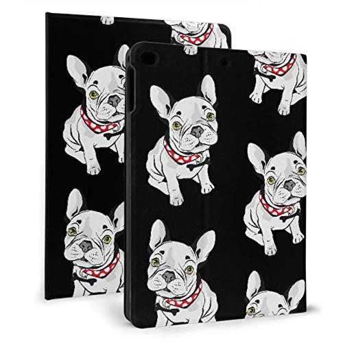 Ipad Mini Case, Ipad Mini 2/3 Case, Ipad Mini 4 Case, Ipad Mini 5 Case, French Bulldog Seamless On Black Cover with Auto Sleep/Wake for 7.9' Apple Ipad Mini 4 5