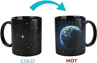 Heat Changing Mug Colour Changing Mug Magical Coffee Mug Tea Cup Perfect Novelty Gift 11OZ-BPA Free Ceramic (Earth And Moon)