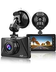 CHORTAU Dash Cam 1080P Full HD Car Camera DVR Dashboard Camera Driving Video Recorder, 3 Inch Screen 170° Wide Angle with Loop Recording, Parking Monitor, Motion Detection, G-Sensor