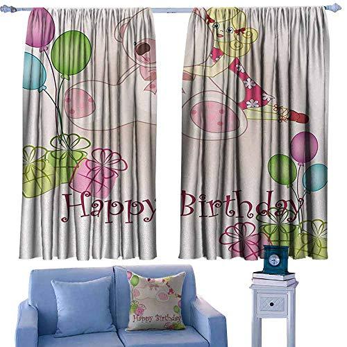 Lovii gordijnen voor slaapkamer Isolerende kamer verduistering Drapes Keep Calm Rood en Wit Samenstelling met Keep Calm and Carry On Text en een Royal UK Kroon Rood Wit