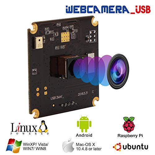"BSG13MP Autofocus USB Camera Module 1/3"" CMOS IMX214 Sensor with Non-Distortion Lens FOV 75Degree,Support 3840X2880,UVC Compliant,Support Most OS,Mini USB with Cameras,High Speed USB2.0 Webcam"