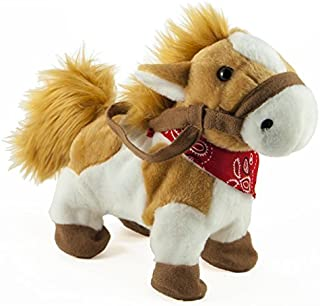 """Cuddle Barn Rusty The Painted Pony Animated Musical Plush Toy, 10"""" Super Soft Cuddly Stuffed Animal Trots to The Energetic Theme Song from The Lone Ranger """"William Tell Overture"""""""