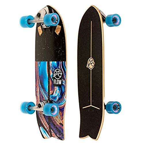 FLOW Surf Skates Surf Skateboard with Carving Truck, Multi-Color