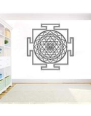 Sri Yantra Vinyl Muursticker Yantra Mandala Logo Decor Muursticker DIY Kamer Decoratie Woondecoratie voor Woonkamer G_57x57cm