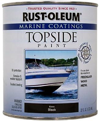 Rust-Oleum, Black, 207006 Marine Topside Paint, 1-Quart by Rust-Oleum