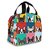 Boston Terrier Lunch Bag Insulated Lunch Box...