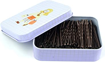 200 CT Hair Bobby Pins Brown with Cute Case, Bobby Pins for Buns, Premium Hair Pins for Kids, Girls and Women, Great for A...