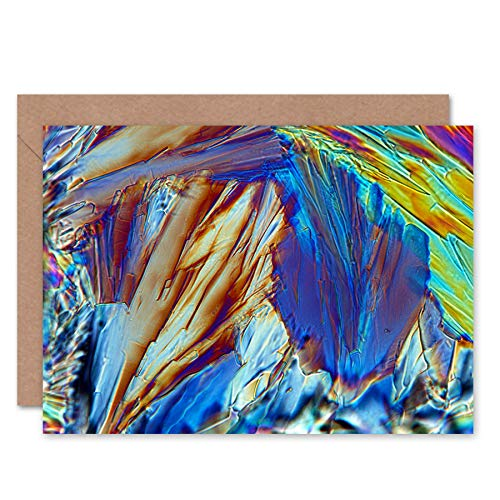Fine Art Prints Abstract Glucose Crystal Electron Microscope Greeting Card with Envelope Inside Premium Quality