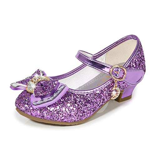 Cadidi Dinos Girls Dress Wedding Party Heel Mary Jane Princess Flower Shoes (Toddler/Little Kid/Big Kid) 1 M US Little Kid