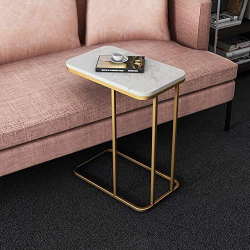 Nachtkastje LKU Lichte luxe bijzettafel smeedijzeren hoekbank meerdere kleine salontafel bijzetkast marmeren vierkant bed, As5