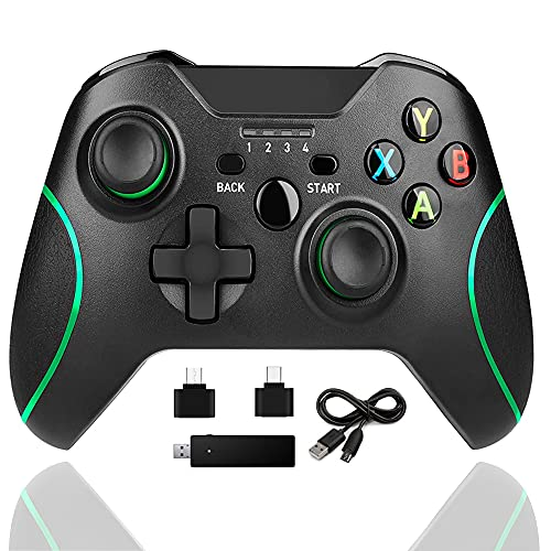 Xbox one Controller Wireless,2.4HZ Gamepad Compatible with Xbox One/One S/One X/One Elite/ PS3/ Windows 10 with Built-in Dual Vibration
