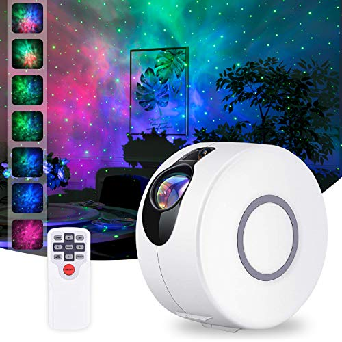 Star Projector, Galaxy Projector with LED Nebula Cloud,Star Light Projector with Remote Control for Kids Adults Bedroom Home Theatre Party Game Rooms and Night Light Ambience-White