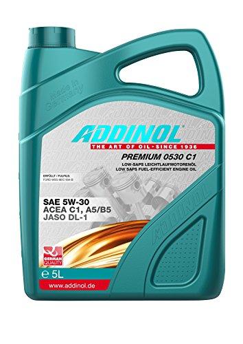 ADDINOL PREMIUM 0530 5W-30 C1,A5/B5 Motorenöl, 5 Liter
