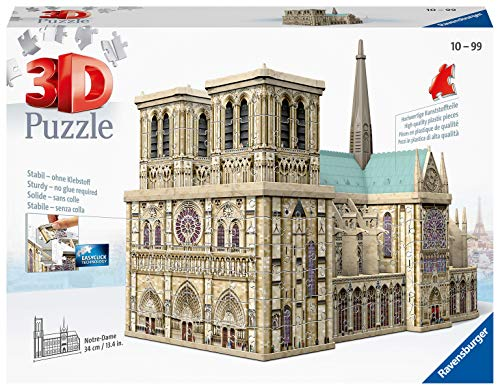 Ravensburger Notre Dame 324 piece 3D Jigsaw Puzzle for Adults & for Kids Age 10 and Up