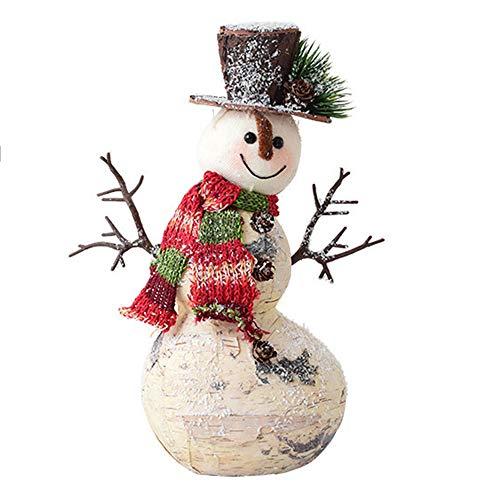 ZXLIFE@@ Houten Sneeuwpop, Kerst Decoraties, Kerst Ornament met Uniek Ontwerp, Maak Feestelijke Sfeer, voor Vensterbank, Hal, Kerstboom