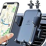 VANMASS Handyhalterung Auto Lüftung 2021 Handyhalter fürs Auto Kfz Handyhalterung mit 2 Upgrade Lüftungsclips 100% Silikonschutz Autohandyhalterungen 360° Drehbar für iPhone Samsung Huawei LG usw
