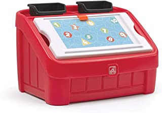 STEP2 2-IN-1 TOY BOX & ART LID(RED) 848900 Art lid